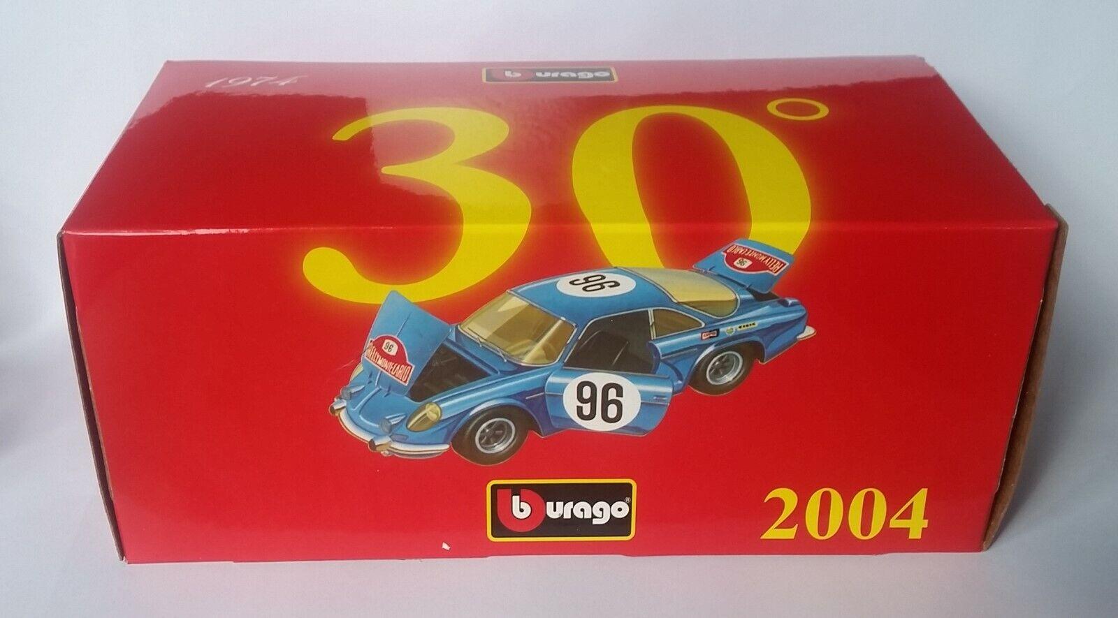 Bburago Renault Alpine A110 Rally Monte Cochelo  96 1 24 MiB 30° Anniversary Speci