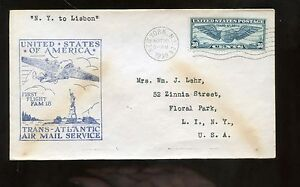 US-FFC-First-Flight-Cover-1939-NYC-to-Lisbon-Portugal-via-FAM-18