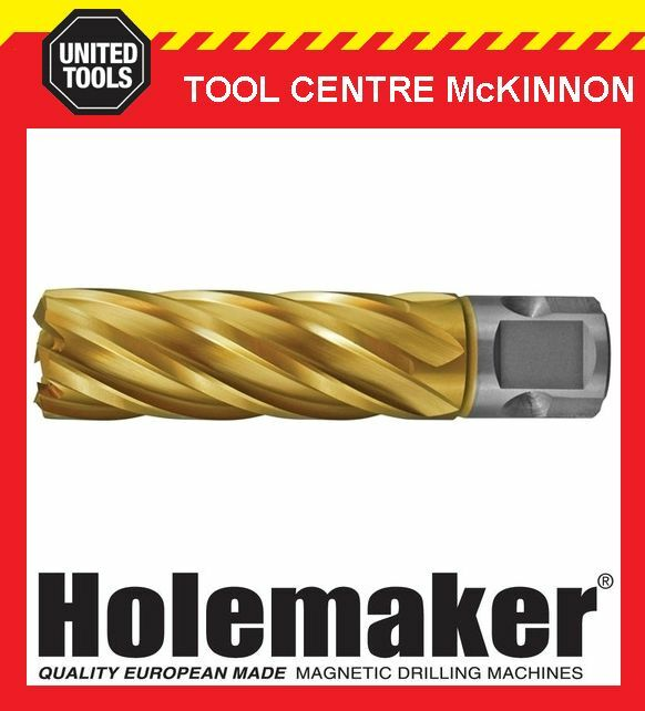 HOLEMAKER 32mm x 50mm UNIVERSAL SHANK Gold MAG DRILL CUTTER – SUIT MOST BRANDS