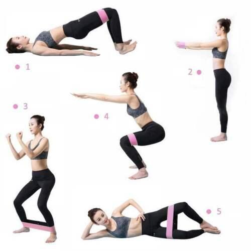 Tissu bandes de résistance Butt exercice boucle Cercles Set JAMBES FESSIERS Femmes