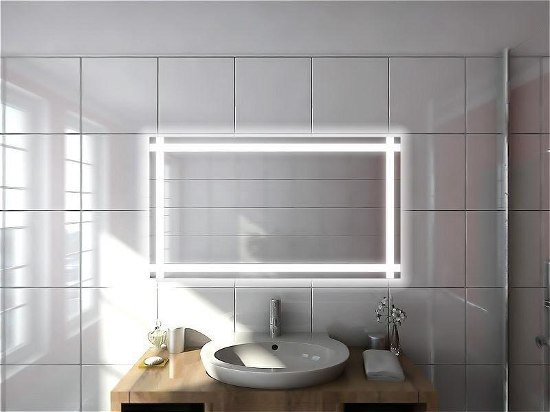 Badspiegel LED beleuchtet rundherum  ██  SPIEGEL MODELL Kira (M310L4) Δ