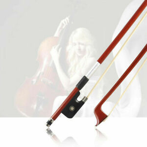 Professional-4-4-Brazilwood-Ebony-Frog-Violin-Arbor-White-Horsehair-Violin-Bow