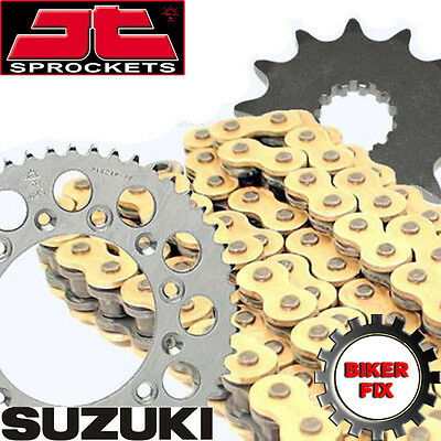 Suzuki RM125 N,P,R,S,T 92-96 GOLD Chain and Sprocket Set Kit HDR Race