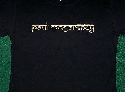Paul McCartney Babydoll 2002 Tour Name Logo Juniors Shirt NEW OSFA