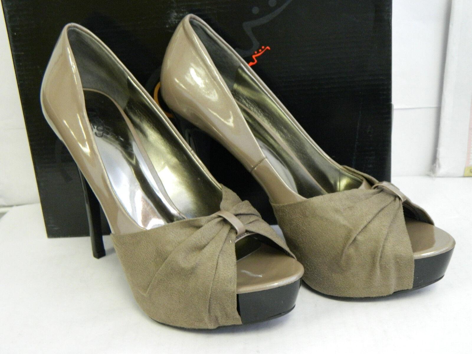 rivenditore di fitness Carlos Santana New donna Damon Taupe Open Toe Heels Heels Heels 8.5 M scarpe  scelte con prezzo basso