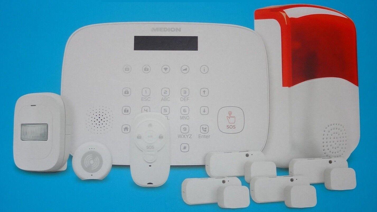 Alarmsystem Medion MD90770 P85770 Alarmanlage Bewegungsmelder GSM WLAN
