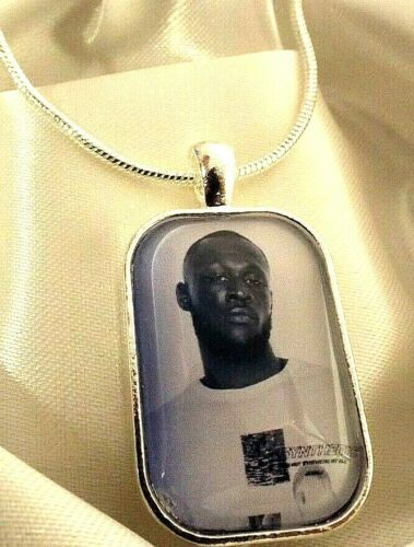 STORMZY RAPPER  PHOTO PENDANT 18 20 22 24 INCH CHAIN NECKLACE GIFT BOX BIRTHDAY