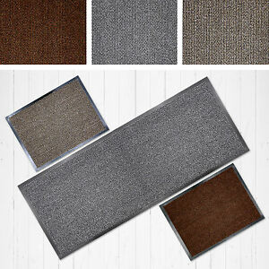 faro grey beige terra washable non slip rubber backed runner door floor mat rug ebay. Black Bedroom Furniture Sets. Home Design Ideas