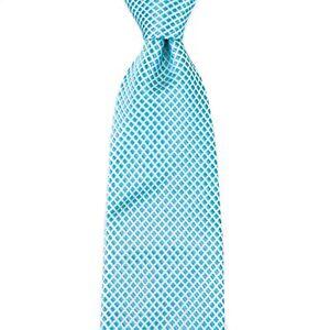 $155 New ROBERT TALBOTT Best of Class Aqua Blue 100/% Silk Tie Made in Italy