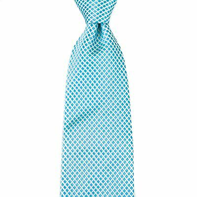 $155 New ROBERT JENSEN Sky Blue Orange 100/% Silk Handmade Neck Tie