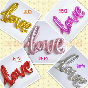 108*65cm Love Letter Wedding Foil Balloons Valentine's Day Decor Random Delivery