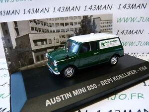 Pit41d Voiture 143 Altaya Ixo Italie Austin Mini 850 Break Bepi