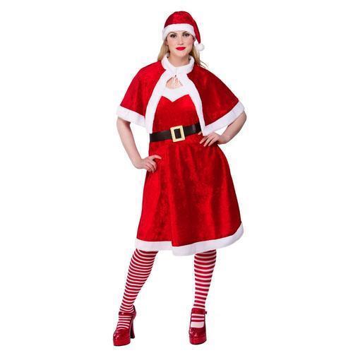 Tights Ladies Fancy Dress Christmas Xmas Womens Adults Costume Mrs Santa Claus