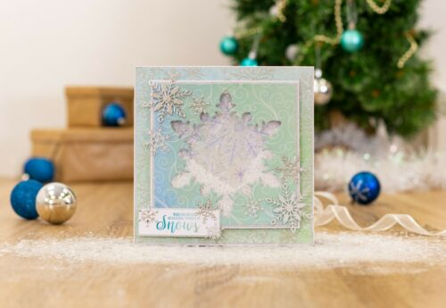 Glittering Snowflake SARA SIGNATURE COLLECTION Christmas Crafters Companion