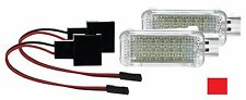 2X LED SMD Modul Fußraumbeleuchtung Audi A1 S1 ROT