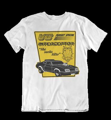 mad max v8 interceptor sci fi Film Movie 90S Cheap Discount 80S T Shirt