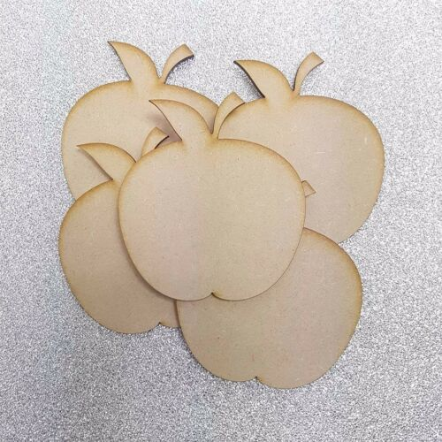 Apple Shape Craft Shape Embellishment 3mm Thick MDF Wood Design Project x10
