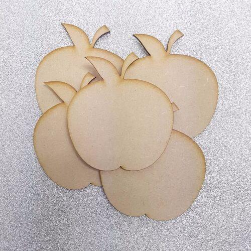 Apple Shape Craft Shape Embellishment 3mm Thick MDF Wood Design Project x10