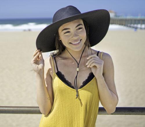 Women Ladies Straw Hat Sun Visor Wide Large Brim Floppy Beach Bohemia Sun Hat