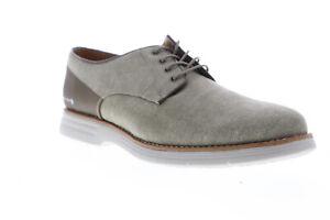 GBX-Hammon-137799-Mens-Gray-Canvas-Low-Top-Lace-Up-Plain-Toe-Oxfords-Shoes-9-5
