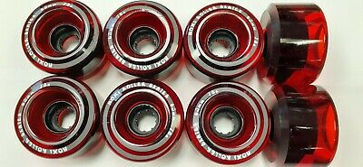 Set of 8Moxi Gummy Outdoor Roller Skate Wheels Strawberry Pink 78a hardness New