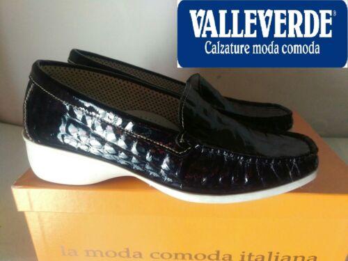 Blu In Donna Scarpa Mocassino Valleverde 35 Col 40 Pelle Nuovo N° Plantare t6Bf0Ewqx