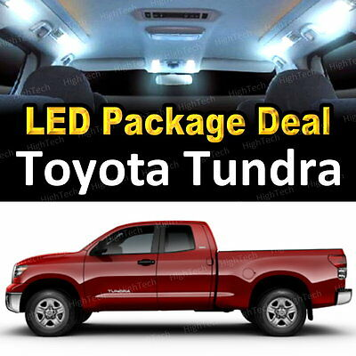 White LED Interior Package Deal + License Plate for Toyota Tundra #B1