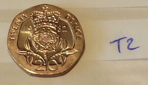 Royal Mint 1982 20p Coin - clean & Bright (#T2)