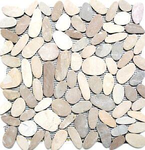 Mosaik-Fliese-Flusskiesel-Steinkiesel-hellbeige-geschnitten-30-IN10-f-10-Matten