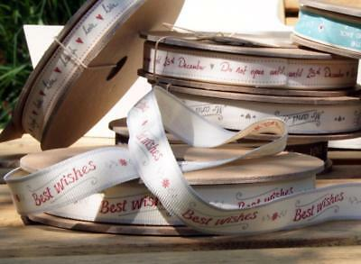 With Much Love 3 Meter Roll 3220 EOI EAST OF INDIA vintage word ribbon