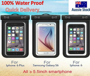 Real Waterproof Iphone 7 8 6s Plus X Phone Pouch Bag Pvc Case Kayak Boat Camera Ebay