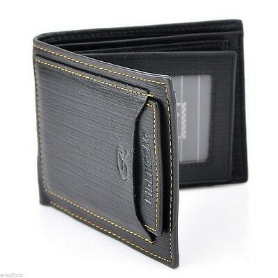 New Men's Quality Faux Leather Bifold Wallet Card Holder Money Clip Pocket Purse