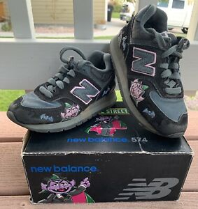 """Details about New Balance Sesame Street """"The Count"""" Kid Athletic Shoes In Size 11 Medium"""