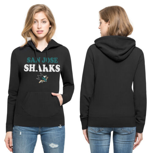 NHL San Jose Sharks Headline Pullover Hoodie Top Womens 47 Brand