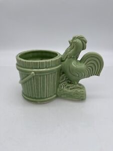Mccoy-Shawnee-USA-Rooster-Tree-Trunk-Planter