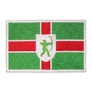 Nottinghamshire County Flag Patch Iron On Patch Sew On Badge Embroidered Patch