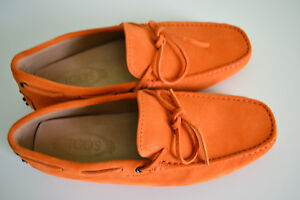 3c6907b1252 TOD S  Gommino  Suede Driving shoes Orange Size 6.5 Brand new
