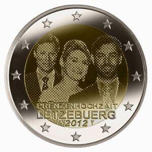 - 2 EURO COMMEMORATIVE - UNC - LUXEMBOURG 2012 - MARIAGE PRINCIER   -
