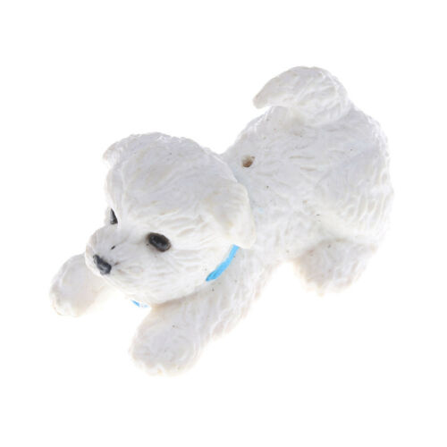 White Pet Mini Puppy Dog Cute 1:12 Dollhouse Miniature Animal Lp