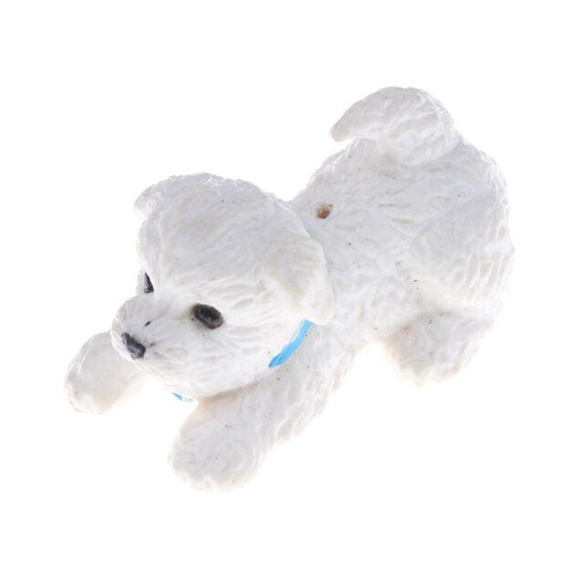 White Pet Mini Puppy Dog Cute 1:12 Dollhouse Miniature Animal new.