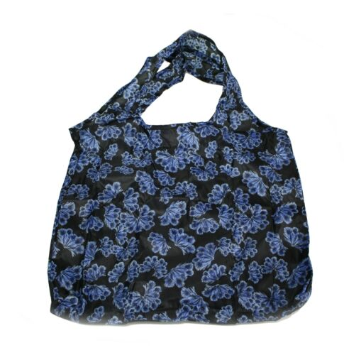 ONE AT RANDOM Floral//Flowers Design Eco Fold Up Shopping Bag For Life Clip