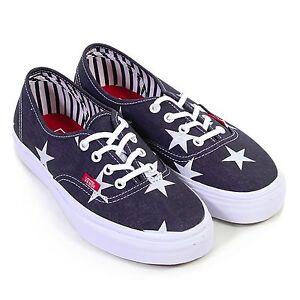 7e8a169001 Vans Authentic (Stars   Stripes) Blue White-- Women s Sk8 Shoe NWB ...