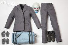 Custom Bank Robber 2.0 1/6 Joker Suit Set Mask DX01 DX11 for Hot Toys Body