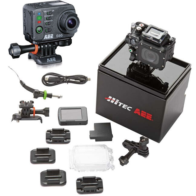 NEW Hitec 44551 S60 Full Package AEE Action 16MP Camera w/Accessories 16mp action aee camera Featured full hitec new package s60