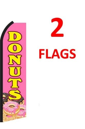 two 2 DONUTS 11.5/' Standard Swooper FLAG