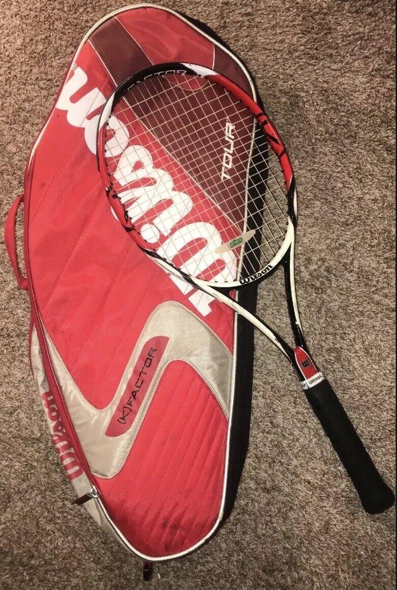 Raro Wilson K Factor Six One 6.1  95 X 95 X 16x18 Raqueta De Tenis 4 3 8  + Estuche  ahorrar en el despacho