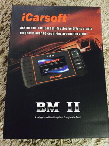 iCarsoft BM II BMW+Mini Read,Reset ABS SRS Service//Oil//break Light i910-2 New