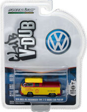 Greenlight 1976 VW Volkswagen T2 Type 2 Duble Cab Pick Up Shell Oil 1:64 29860-F