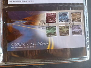 NEW-ZEALAND-2000-ON-THE-ROAD-CARS-SET-6-STAMPS-FDC-FIRST-DAY-COVER