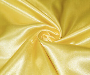 Yellow-Silky-Satin-Dress-Craft-Fabric-Wedding-Material-150cm-Wide